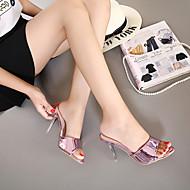 Pantofle a Žabky-PVC-Pohodlné-Dámské-Zlatá Fialová-Běžné-Vysoký