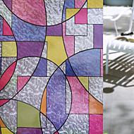 幾何学図形 レトロ風 ウインドウステッカー,PVC /ビニール 材料 窓の飾り