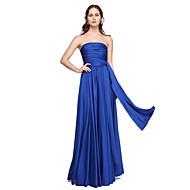 LAN TING BRIDE Boden-Länge Ein/Schulter Trägerlos V-Ausschnitt Brautjungfernkleid - Wandelbare Kleider Ohne Ärmel Jersey