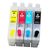 4-väri (bk, punainen, keltainen, sininen) Epson yhteensopiva patruunat, S22 täytettävissä mustekasetti pelimerkkejä