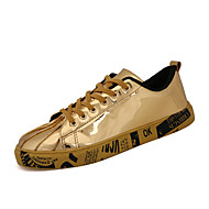 Men's Sneakers Shoes Casual/Travel/Outdoor Fashion Microfiber Shoes Big Size EU39-EU46 Gold Black Sliver