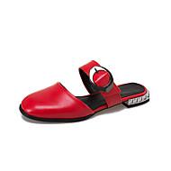 Pantofle a Žabky-PU-Pohodlné S páskem-Dámské-Zlatá Černá Stříbrná Červená-Běžné-Nízký podpatek