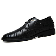 Men's Oxfords Spring Summer Formal Shoes Cowhide Office & Career Party & Evening Casual Flat Heel Lace-up
