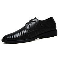 גברים-נעלי אוקספורד-עור-נעליים פורמלית-שחור חום בהיר חום כהה-משרד ועבודה יומיומי מסיבה וערב-עקב שטוח