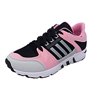 Women's Athletic Shoes Fall Winter Comfort PU Casual Flat Heel Lace-up Green Pink Red Other