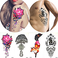 Tatuajes Adhesivos Series de Animal Series de Tótem Non Toxic Modelo Halloween Parte Lumbar Waterproof CaricaturasMujer Hombre Juventud