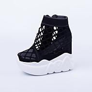 Черный-Для женщин-Повседневный-Полиуретан-На платформе-Светодиодные подошвы-Спортивная обувь