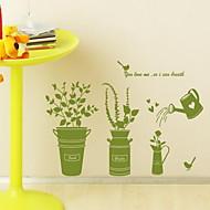 樹木/葉 現代風 ウインドウステッカー,PVC /ビニール 材料 窓の飾り