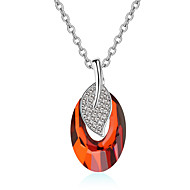 Women's Pendant Necklaces Crystal Chrome Unique Design Euramerican Fashion Personalized Light Blue Red Black Gold Jewelry ForWedding