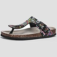 Sandaler-PVC-Komfort-Damer-Hvid Sort-Fritid-Flad hæl