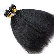 μη μεταποιημένα 10α καλύτερη ποιότητα παρθένα βραζιλιάνα ανθρώπινα μαλλιά μικρο βρόχο επεκτάσεις τρίχας δακτυλίου χονδροειδή kinky ευθεία