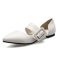 Women's Flats Spring Summer D'Orsay & Two-Piece Leatherette Office & Career Dress Flat Heel Buckle