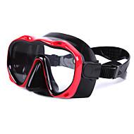 Dykkermasker Dykking og snorkling Glass Silikon Rød Gul Blå Svart