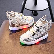 Meisjes Sneakers Lente Herfst Light Up Schoenen Synthetisch Weefsel Casual Sport Feesten & Uitgaan Platte hak Gesp LED Goud Zilver Roze