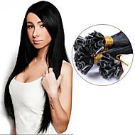 keratin u tip Brazil haj 1 gramm minden szál köröm tip fúziós emberi póthaj előre ragasztott egyenes szűz hajszín # 1