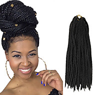Box Braids Twist Braids Hårforlengelse 24Inch Kanekalon 24 Strands,Recommended buy 5 Packages For Full Head Strand 90g gram Hair Braids