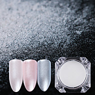 2g de diamante pérola nail art brilho em pó pó de sereia brilhar pigmento branco diy unha decorações