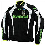 オートバイ通気性ベルトコットンフランチャードオートバイジャケット自動車レースジャケット有保護黒&白