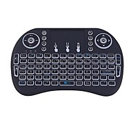 Air Mouse Keyboard Backlit Flying Squirrels I8 2.4GHz Wireless for Android TV Box and PC with Touchpad