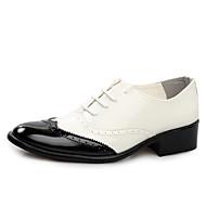 -Для мужчин-Свадьба Для офиса Для вечеринки / ужина-Лакированная кожа-На плоской подошве-Формальная обувь Баллок обувь-Туфли на шнуровке