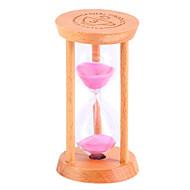 작은 모래 시계 진자 카운트 다운 1 / 3 / 5 분 시간 미니 유리 나무 선물