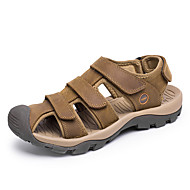 Sandaalit-Tasapohja-Miehet-Nahka--Ulkoilu Toimisto Rento-Comfort