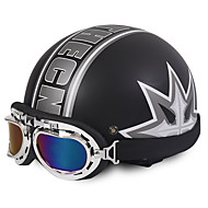 Unisex nové letní vintage motocyklové přilby otevřená tvář polovina motorky&Brýle helma