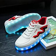 Feminino-Tênis-Solados com Luzes Light Up Shoes-Rasteiro-Amarelo Vermelho-Courino-Casamento Ar-Livre Escritório & Trabalho Social Casual