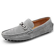 Masculino Mocassins e Slip-Ons Conforto Sapatos de mergulho Couro de Porco Verão Outono Casual Conforto Sapatos de mergulho Tachas
