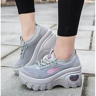 Dames Sneakers Lente Comfortabel PU Casual Zwart Grijs Blauw