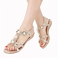 Women's Sandals Slingback PU Summer Casual Chunky Heel Silver Champagne 1in-1 3/4in