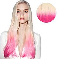 Fita 20pcs em extensões de cabelo # t60 / pink ombre cor de rosa loiro 40g 16inch 20inch 100% cabelo humano para as mulheres