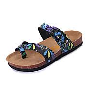 Damen Sandalen Komfort PU Sommer Normal Komfort Schnalle Flacher Absatz Weiß Schwarz Flach