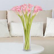 5 ענף PU חבצלות (קלה לילי) פרחים לשולחן פרחים מלאכותיים
