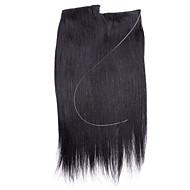 18inch skrytý neviditelný drát 100% remi lidských vlasů 80g
