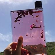 クリア ミニマリズム コップ, 420 ml エルゴノミック設計 プラスチック ジュース ウォーター 日常を彩るドリンクウェア