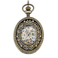 Men's Women's Skeleton Watch Pocket Watch Mechanical Watch Automatic self-winding Alloy Band Silver