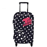 Reisekofferabdeckung für Koffer Accessoires Polyester-Schwarz/Weiß