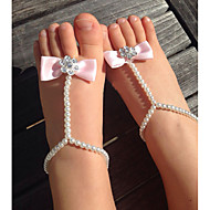 Kids Simulation Of Pearl Shoes DIY Handmade baby's Foot Chain