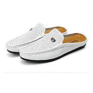 Men's Loafers & Slip-Ons Spring Summer Comfort Pigskin Wedding Office & Career Party & Evening Casual Brown Black White Walking