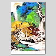 Pintados à mão Animal Panorâmico Vertical,Moderno Clássico 1 Painel Tela Pintura a Óleo For Decoração para casa