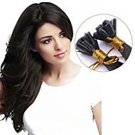 nagykereskedelmi Brazil haj nők Remy köröm tip u tip emberi póthaj egyenes 1g / s 100strands pre-kötésű hajszín # 2