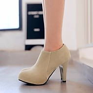 נשים-מגפיים-PU-רצועה אחורית--יומיומי-עקב עבה