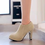 Feminino-Botas-Chanel-Salto Grosso--Couro Ecológico-Casual