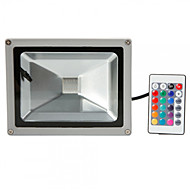 Hkv® 1pcs 20w 1800-2000 lm rgb vanntett festoon led floodlight integrere ledet ac85-265 v