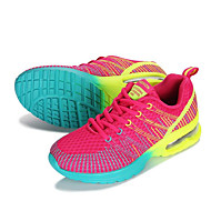 Feminino-Tênis-Conforto Solados com Luzes-Salto Baixo--Tecido-Ar-Livre Casual Para Esporte