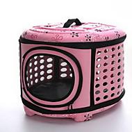 Kot Pies Przewoźnicy i plecaki turystyczne Zwierzęta domowe Torby Przenośny Oddychający Kwiaty Beige Gray Różowy