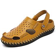 Sandály-Kůže-Pohodlné-Pánské--Běžné-Plochá podrážka