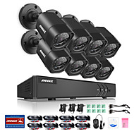 Annke® 8ch 8pcs 720p câmera de vídeo hd 4in1 dvr ip casa de rede de vigilância sistema de segurança cctv