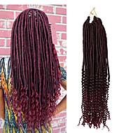 Crochet Bouclé Bouncy Curl Twist profonde dreadlocks Extensions de cheveux Kanekalon Cheveux Tressée